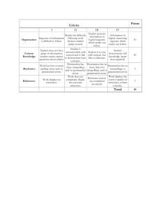 Essay Writing Assignment Rubrics