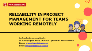 Reliability in Project Management for Teams Working Remotely  - Phdassistance.com