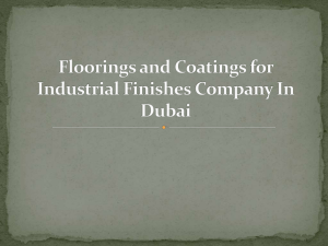 Floorings and Coatings for Industrial Finishes Company In Dubai