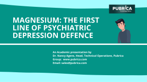 Magnesium The First Line of Psychiatric Depression Defence - Pubrica