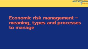 Economic risk management – meaning, types and processes to manage