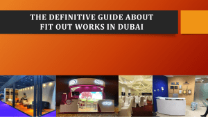 The Definitive Guide About Fit Out Works In Dubai