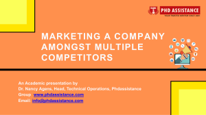 Marketing a Company Amongst Multiple Competitors - Phdassistance.com