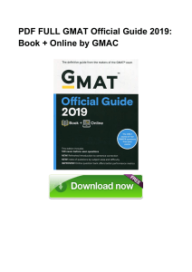 PDF GMAT Official Guide 2019 Book Online