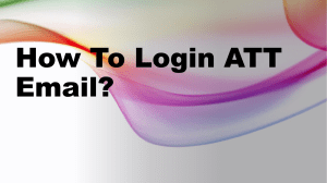 How To Login ATT Email