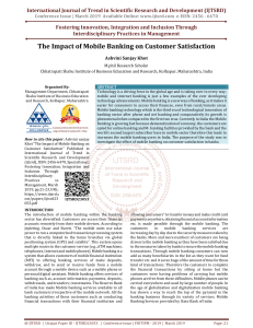 6 The Impact of Mobile Banking on Customer Satisfaction