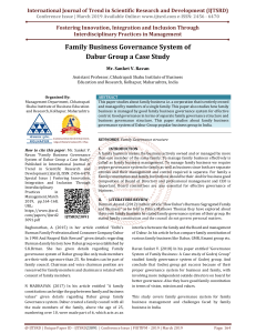 41 Family Business Governance System of Dabur Group a Case Study