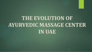 The Evolution of Ayurvedic Massage Center in UAE