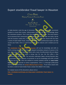 Expert stockbroker fraud lawyer in Houston