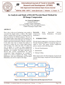 37 An Analysis and Study of HAAR Wavelet Based Method for 2D Image Compression