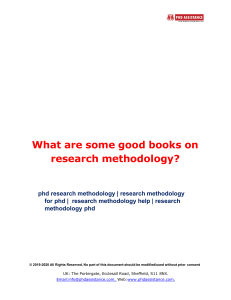 What are Some Good Books on Research Methodology ?- Phdassistance.com