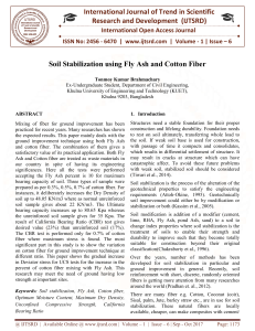 Soil Stabilization using Fly Ash and Cotton Fiber