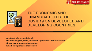 The Economic and Financial Effect of Covid19 on Developed and Developing Countries - Phdassistance.com