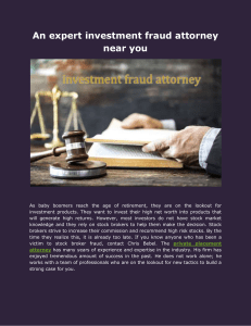 An expert investment fraud attorney near you