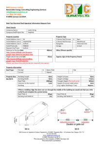 Roof Survey Form