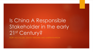 Is China A Responsible Stakeholder-PowerPointFinal