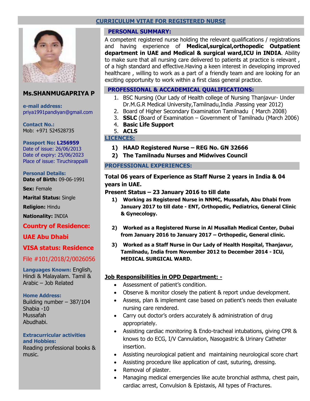 Shanmugapriya resume compare and contast essays
