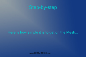 hsmmmesh-step-by-step