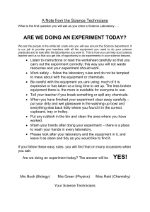 A Note from the Science Technicians