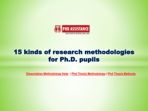 15 kinds of Research Methodologies for PhD Pupils - Phdassistance.com