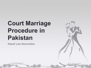 Seek Advice For Procedure of Court Marrigae in Pakistan By Expert Lawyer