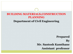 Building Material and Construction  Planning