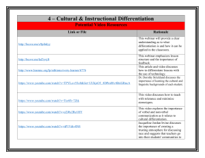 4 cultural amp instructional differientiation resources