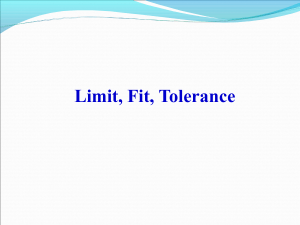 LIMIT FIT TOLERANCE