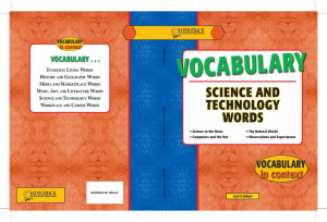 vocabulary science and technology words