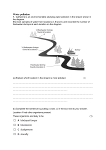 Water pollution Exam question plenary