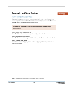 WHG SR Geography PerformanceTask