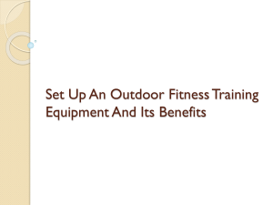 Set Up An Outdoor Fitness Training Equipment And Its Benefits
