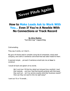 Never Pitch Again by Alina Medina