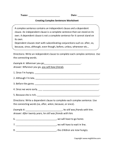 Creating-Complex-Sentences-Worksheet