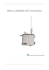 Walrus-LoRaWAN-OD Concentrator specificationsV1.1.0-室内中性英文