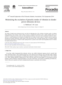 Minimizing the Excitation of Parasitic Modes of Vibration in Slender Power Ultrasonic Devices