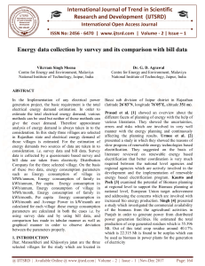 Energy data collection by survey and its comparison with bill data