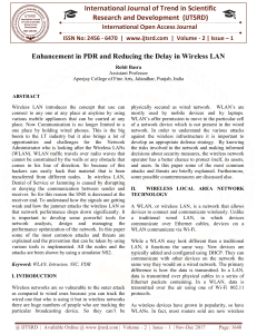 257 Enhancement in PDR and Reducing the Delay in Wireless LAN
