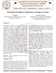 The Impact of Employee Engagement on Employee Loyalty
