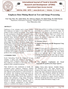 Employee Data Mining Based on Text and Image Processing