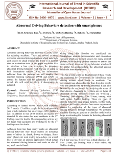 Abnormal Driving Behaviors detection with smart phones