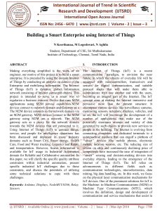 309 Building a Smart Enterprise using Internet of Things