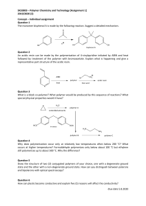 Polymer Chemistry and Technology [SK33803]  - Tugasan 1