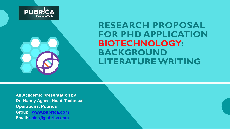 Research Proposal Phd Biotechnology