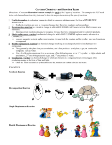 cartoon chemistry and reaction types