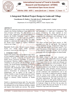 A Integrated Medical Project Design in Godavadi Village
