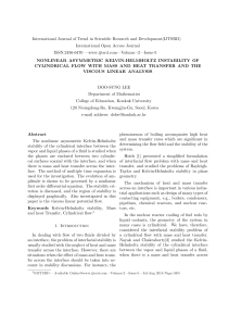 Nonlinear Asymmetric Kelvin Helmholtz Instability Of Cylindrical Flow With Mass And Heat Transfer And The Viscous Linear Analysis