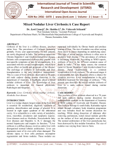 Mixed Nodular Liver Cirrhosis A Case Report
