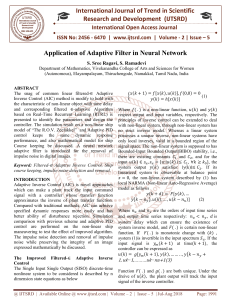 Application of Adaptive Filter in Neural Network