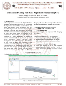 Evaluation of Ceiling Fan Blade Angle Performance using CFD